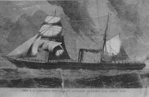 Engraving of Tararua ship published in NZ Herald July 14 1887 Waikawa Museum Collection v2